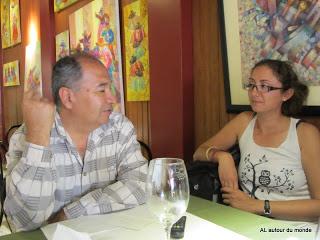Avec le patron du resto - Ica